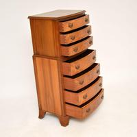 Burr Walnut Chest on Chest of Drawers c.1930 (9 of 9)