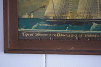 19th Century Maritime Oil on Board Topsail Schooner (6 of 10)