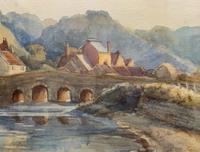 Large Original 19th Century Antique Yorkshire Landscape Watercolour Painting (5 of 11)