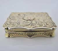 Superb Silver-gilt Vinaigrette Nathaniel Mills Birmingham 1844 (4 of 8)