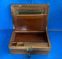 Victorian Brassbound Walnut Writing Slope (4 of 14)