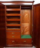 Wardrobe Triple Compactum Wardrobe Victorian Mahogany (9 of 12)