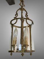 Antique French Large Gilt Bronze Circular Lantern (4 of 7)