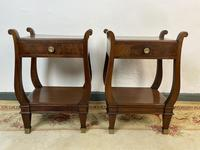 Vintage French Mahogany Bedside Tables (3 of 14)