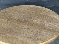 French Round Bleached Oak Farmhouse Dining Table (3 of 19)
