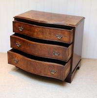 Walnut Serpentine Front Chest of Drawers (9 of 10)