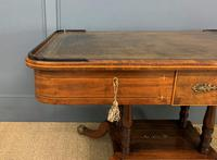 Fine Regency Inlaid Mahogany Library Table (3 of 16)