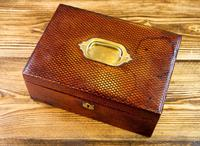 Victorian Red Leather Jewellery Box 1890 (6 of 10)