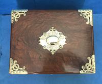 Victorian Brassbound Walnut Cigar Box (19 of 19)