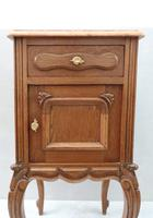 Pair of Early 20th Century Continental Oak Bedside Cabinets (3 of 8)