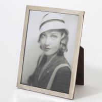 Art Deco Silver Rectangular Photograph Frame by WJ Myatt & Co Birmingham 1925