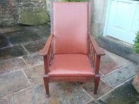 Arts & Crafts Leather Armchair (2 of 4)