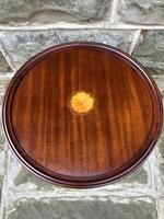 Inlaid Mahogany Tripod Wine Table (5 of 5)