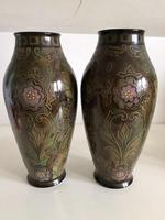 Pair of Large Antique Royal Bonn Vases - Art Nouveau (3 of 9)
