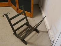 19th Century Blacksmith Made Inglenook Iron Log Carrier (5 of 7)