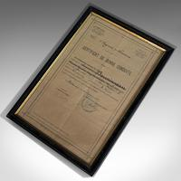 Antique Pair of Framed Certificates, French, Award of Honour, WW1 c.1918 (3 of 9)