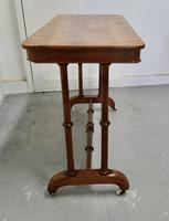 Elegant Victorian Arts & Crafts Birch and Mahogany Side Table (5 of 8)