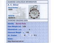 3.00ct Burma Ruby & 1.02ct Diamond, 15ct Yellow Gold Brooch - Antique c.1900 (8 of 12)