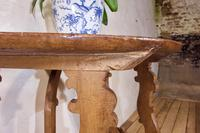 Charming 18th Century Italian Demi-Lune Lyre-Leg Fruitwood Table (11 of 13)
