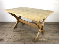 Solid Oak Table on X Frame Base (6 of 9)