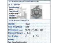2.47ct Opal & 5.34ct Diamond, Platinum Pendant c.1940 (10 of 12)