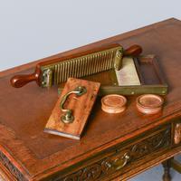 Victorian Mahogany & Brass Pill Maker (2 of 9)