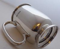 1933 Hallmarked Solid Silver 1/2 Half Pint Tankard Christening Mug E Viner (5 of 8)
