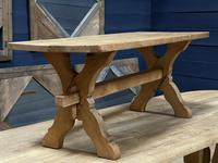 Rustic French Bleached Oak Coffee Table (17 of 20)