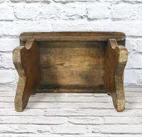 Antique Pine Bench Stool (5 of 5)