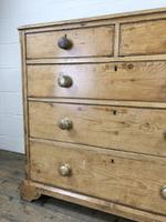 Victorian Antique Pine Chest of Drawers (4 of 10)
