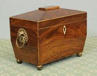 Antique Rosewood Tea Caddy (2 of 15)