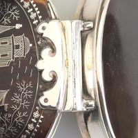 Fine Charles II Solid Silver, Pique & Tortoiseshell Snuff Box C.1680 (3 of 11)