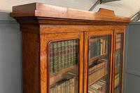 Fine Quality Figured Mahogany Library Bookcase (4 of 17)