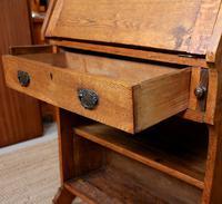 Oak Bureau Arts & Crafts Writing Desk Chest Edwardian Slim (4 of 12)