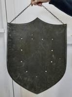 19th Century French Arts and Crafts Hand Made Curved Steel Shield (4 of 5)