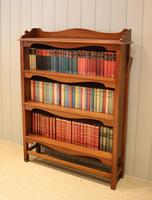 Pitch Pine Open Bookcase