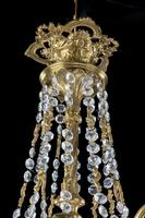 A Late 19th Century Gilt Bronze and Cut Glass Six Arm Chandelier (4 of 6)
