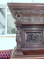 Country Oak Court Cupboard 1800 Superb Carving (7 of 12)