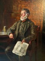 BAD NEWS FROM THE WAR! 'Walter Tomlinson' Portrait Oil Painting (11 of 16)