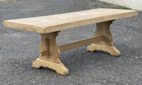 Bleached Oak Trestle End French Farmhouse Dining Table (4 of 22)