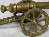 Small Antique French Victorian 19th Century Brass Cannon Ornament (13 of 18)