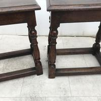 Pair of Oak Coffin Stools Circa Late 17th Century (22 of 24)
