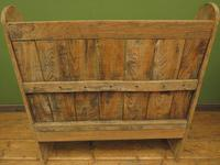 Antique Elm Tavern Bench Settle, Rustic Hall Seat (16 of 19)