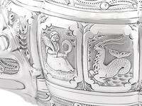 Sterling Silver Three Piece Zodiac Tea Service - Antique Victorian 1882 (15 of 24)