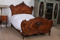 Lovely Quarter Veneer Louis XV Style Double Bed (2 of 10)