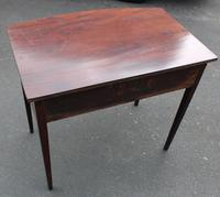 1900's Mahogany Bow Side Table with Drawer (4 of 4)