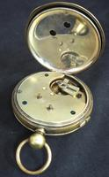 Antique Chronograph Pocket Watch Sweeping Stop Start Seconds Hand Swiss Made Key Wind. (2 of 8)