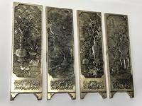 Antique Chinese Solid Silver Zu Yin Hallmarked Scroll Weight Plaques Guangxu (4 of 24)