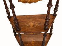 Victorian Whatnot Bookshelf Antique 1860 Furniture (6 of 13)