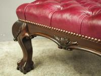 George III Style Mahogany and Leather Upholstered Centre Stool (4 of 8)